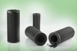 Cartucce cilindriche a carbone attivo per piastre