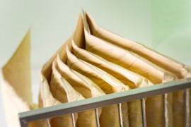 Produzione Filtri a tasche in fibra di vetro alta efficienza